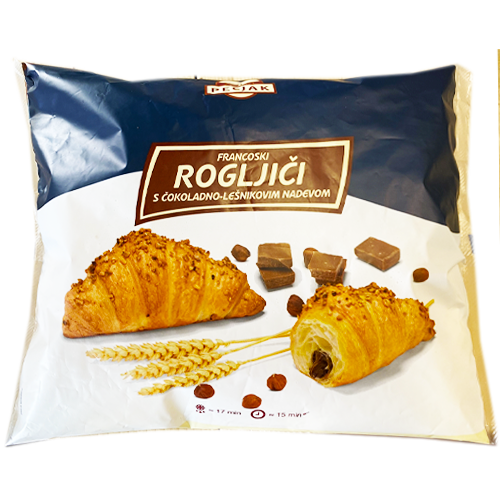 Croissant with CHOCOLATE NOUGAT filling 10pcs x 90g (PECJAK)