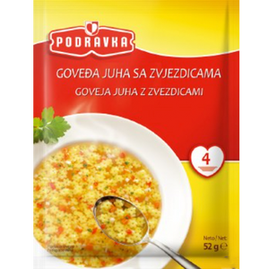 Vegetable Soup w. Pasta Stars  52g (Podravka)