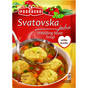 Wedding Soup (Vegetable Soup) with Semolina Dumplings / Svatovska Juha 58g (Podravka)