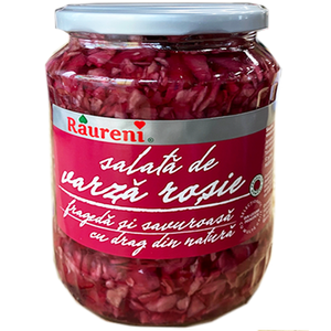 Varza Rosie / Pickled Red Cabbage 680g (Raureni)