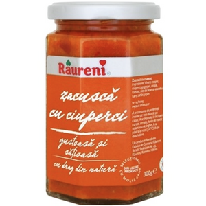 Zacusca Vegetable Spread With Mushrooms 300g (Raureni)