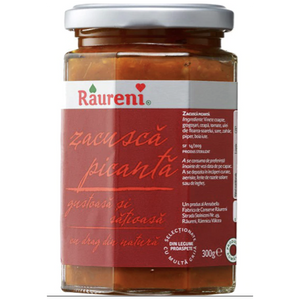 Zacusca Spicy Traditional Peasant Vegetable Spread Picanta 300g (Raureni)