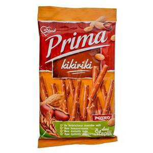 Prima Pretzel Sticks with Peanut Butter Filling / Kikiriki Stapici 100g (Stark)