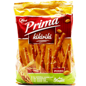 Prima Pretzel Sticks with Peanut Butter Filling / Kikiriki Stapici 230g (Stark)