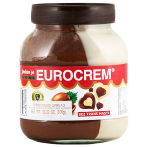 Eurocrem Hazelnut Milk And Cocoa Spread 800g (Takovo)