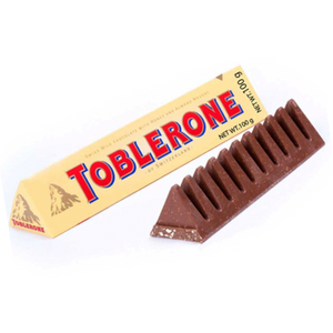 Toblerone Swiss Milk Chocolate w Honey/Almond/Nougat 100g (Toblerone)