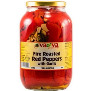 Fire Roasted Red Peppers with Garlic 2350g (Va-Va)