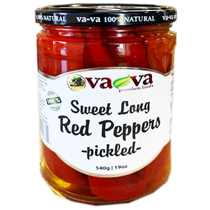 Sweet Long Red Peppers Pickled  490g (Va-Va)