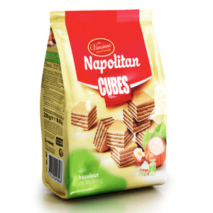 Napolitanke Wafers Cubes With Hazelnut  250g (Vincinni) (4433729060898)