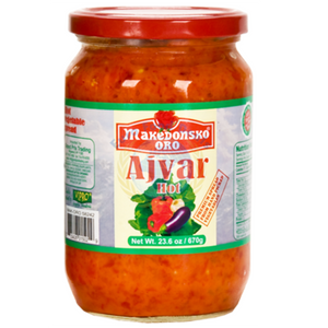Makedonsko Oro HOT Ajvar  670g (VIPRO) (4433751080994)