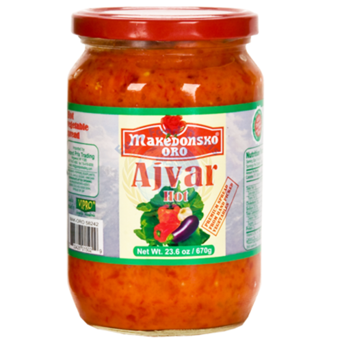 Makedonsko Oro HOT Ajvar 670g (VIPRO)