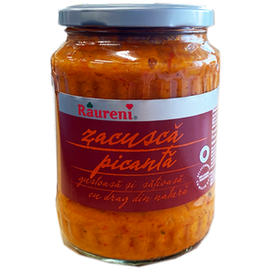 Zacusca Spicy Traditional Peasant Vegetable Spread Picanta 700g (Raureni)