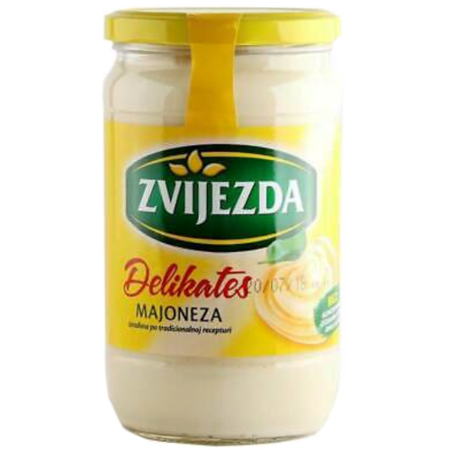 Traditional Mayonnaise Glass Jar 630g (Zvijezda)