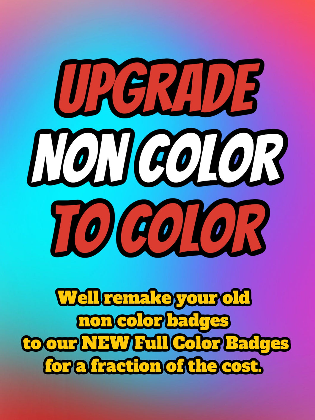 Full Color Upgrade from NON Color Badges - Forged Concepts Custom Car Badges