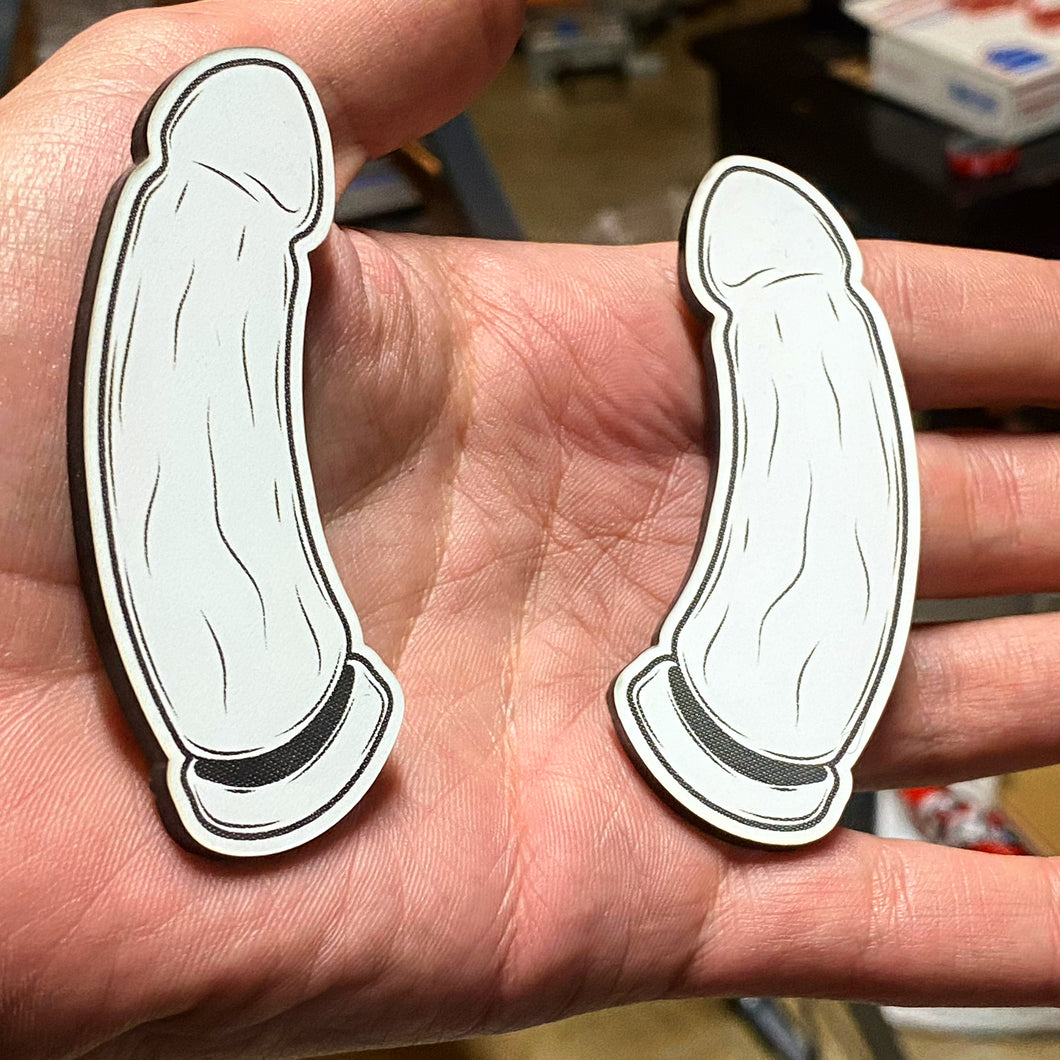 Dildo Badges (includes 4 badges) - Forged Concepts Custom Car Badges