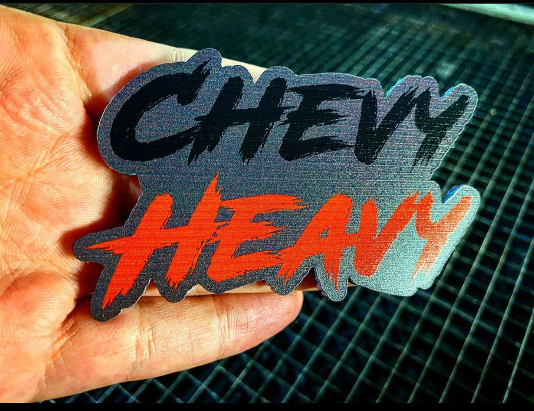 Chevy Heavy Badges (2) NEW UPGRADED MATERIAL - Forged Concepts
