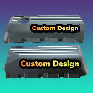 Custom Half Cover Badges (includes 2) (ANY DESIGN) - Forged Concepts Custom Car Badges