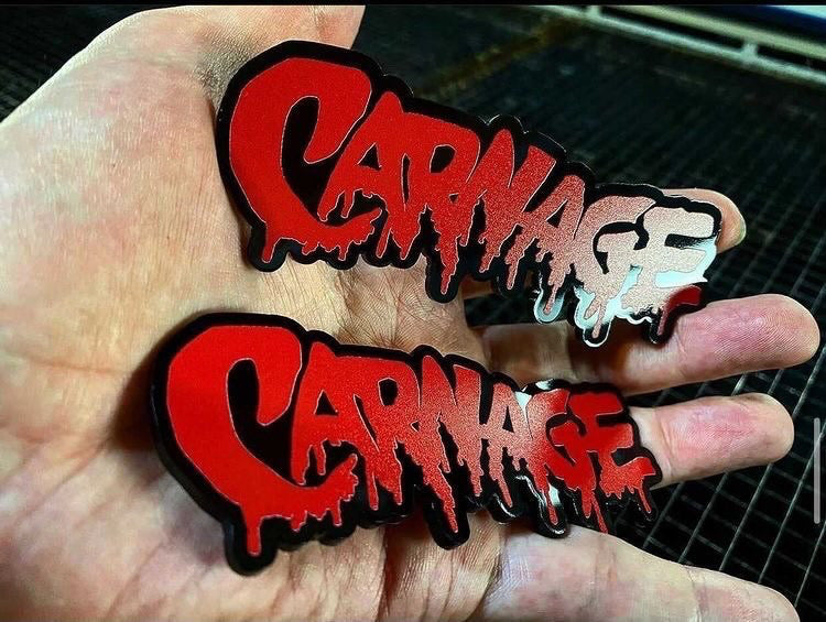 Carnage Badges (2) FREE SHIPPING - Forged Concepts