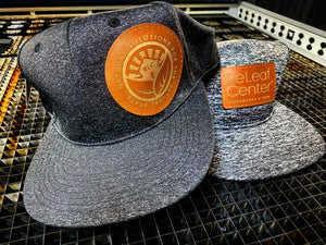 Custom Hat w/leather patch (any design, any color hat) - Forged Concepts