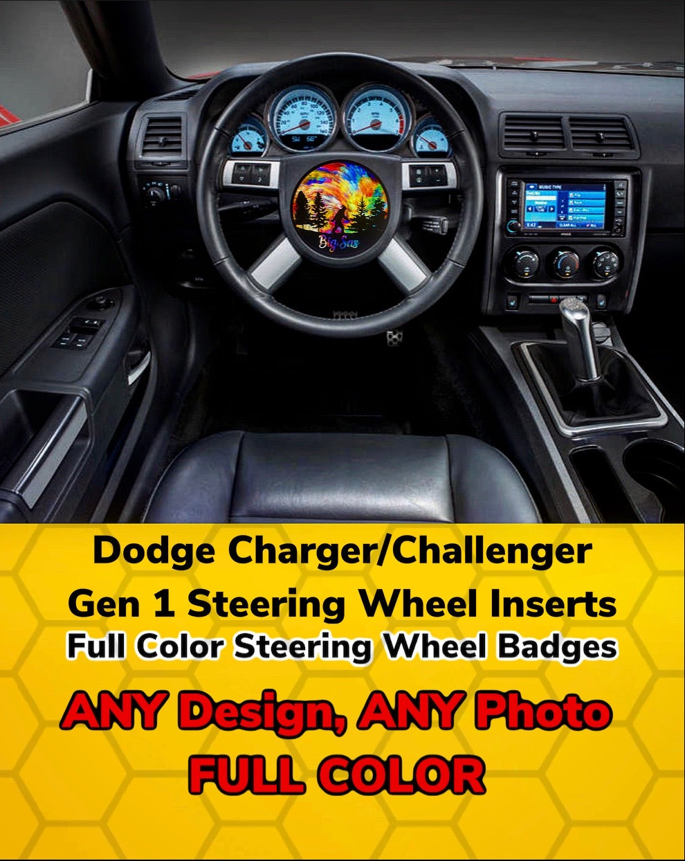 2006-2010 Charger/Challenger Steering Wheel Insert - Forged Concepts