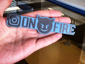 CUSTOM Instagram Name Plates (2) Free Shipping - Forged Concepts Custom Car Badges