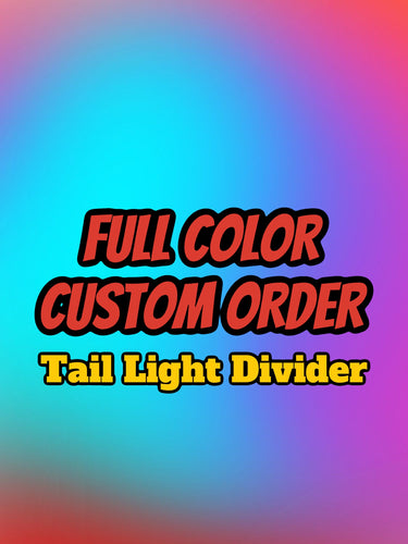 CUSTOM Full Color Tail Light Divider (Challenger) - Forged Concepts Custom Car Badges