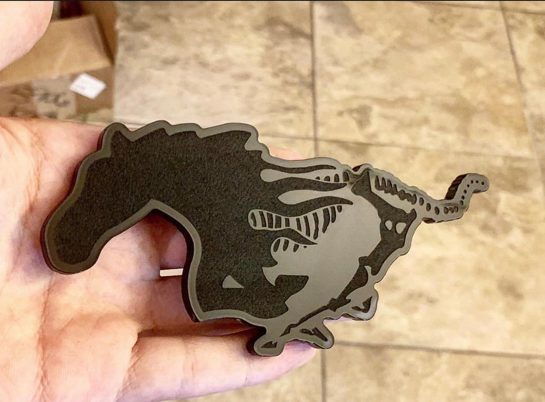 Skeleton Mustang Badge - Forged Concepts Custom Car Badges