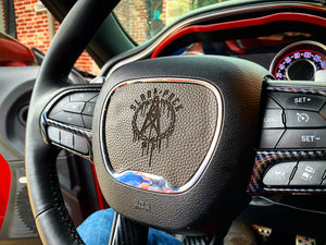 ON SALE!!! Challenger/Charger Custom Steering Wheel Insert (YOUR DESIGN) - Forged Concepts Custom Car Badges