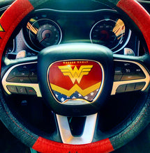 Load image into Gallery viewer, Wonder Woman Steering Wheel Insert - Forged Concepts Custom Car Badges