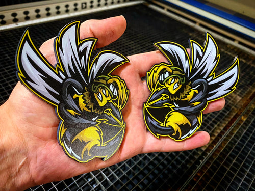 New Bee Design Full Color Badges (2) FREE SHIPPING - Forged Concepts Custom Car Badges