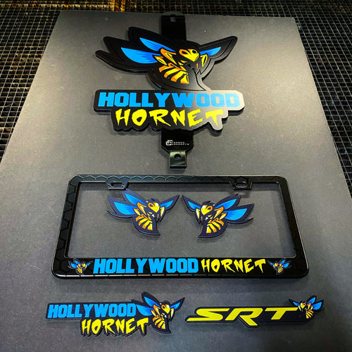 Executive Package (Hood Prop, Metal Plate & Badges) - Forged Concepts Custom Car Badges