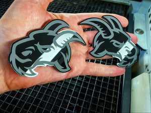Evil goat Black (2 badges) - Forged Concepts Custom Car Badges