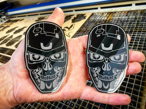 Terminator Badges (2) - Forged Concepts Custom Car Badges