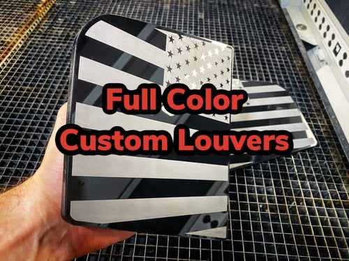 Custom Full Color Charger Louvers (2014+) (ANY DESIGN) - Forged Concepts Custom Car Badges