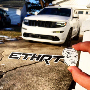 White/Black ETHRT (FREE SHIPPING) - Forged Concepts Custom Car Badges