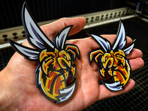 Killer Bees  (FREE SHIPPING) - Forged Concepts Custom Car Badges