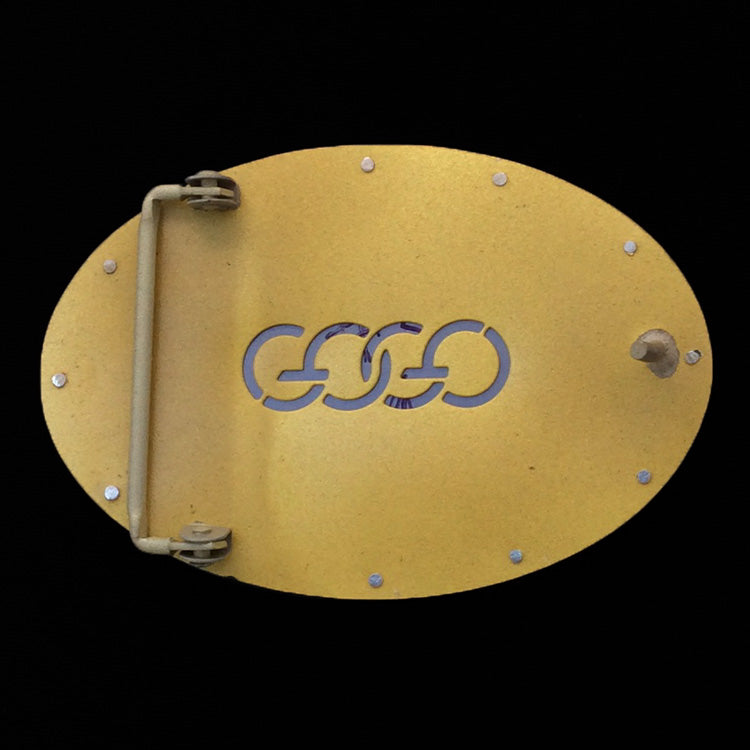 Mixed Up Belt Buckle - Brass