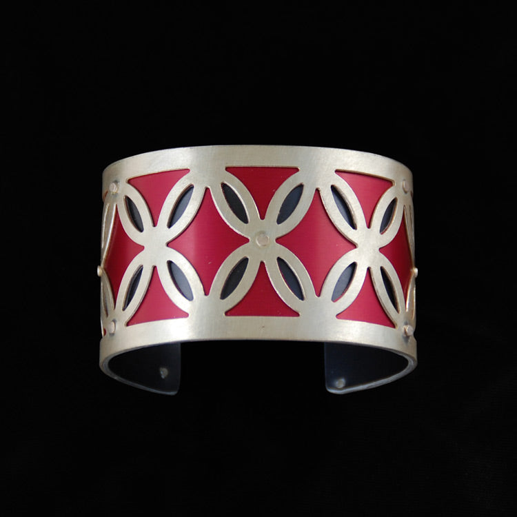 Medium Two Tone Butterflies Cuff