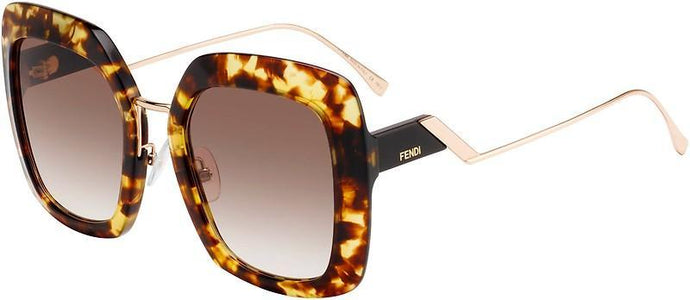 Fendi 0317/S Brown Tropical Shine Oversized Square Sunglasses