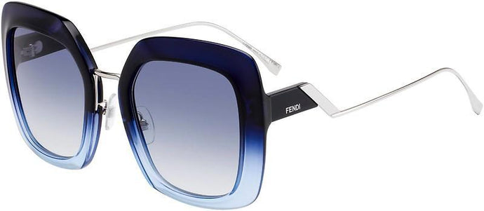 Fendi 0317/S Blue Tropical Shine Oversized Square Sunglasses
