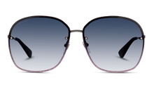 Load image into Gallery viewer, Gucci GG0228S Oversized Rimless Glitter Metal Sunglasses in Grey Gradient