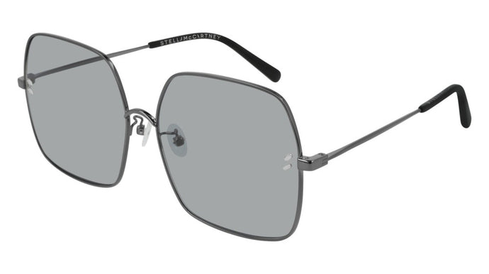 Stella McCartney SC0158S Square Metal Sunglasses in Grey Lens