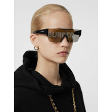 Load image into Gallery viewer, Burberry 4291 Mirrored Shield Sunglasses in Gold