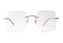Load image into Gallery viewer, Gucci GG0683O Oversized Hexagon Rimless Eyeglasses Frames