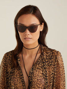 Saint Laurent SL249 Black Cat Eye Sunglasses