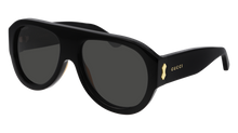 Load image into Gallery viewer, Gucci GG0668S Black Thick Rim Aviator Sunglasses