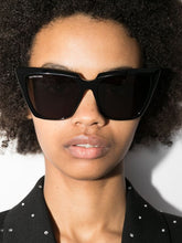 Load image into Gallery viewer, Balenciaga BB0046S 001 Cat Eye Sunglasses in Black
