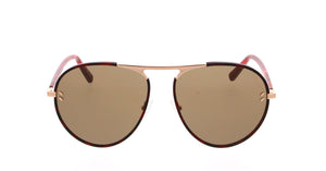 Stella McCartney SC0133S Metal Aviator Sunglasses in Dark Brown