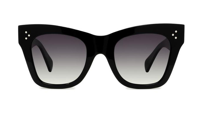 Celine CL4004IN Black Polarized Cat Eye Sunglasses