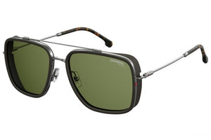 Carrera 207/S Polarized Square Aviator Sunglasses in Ruthenium